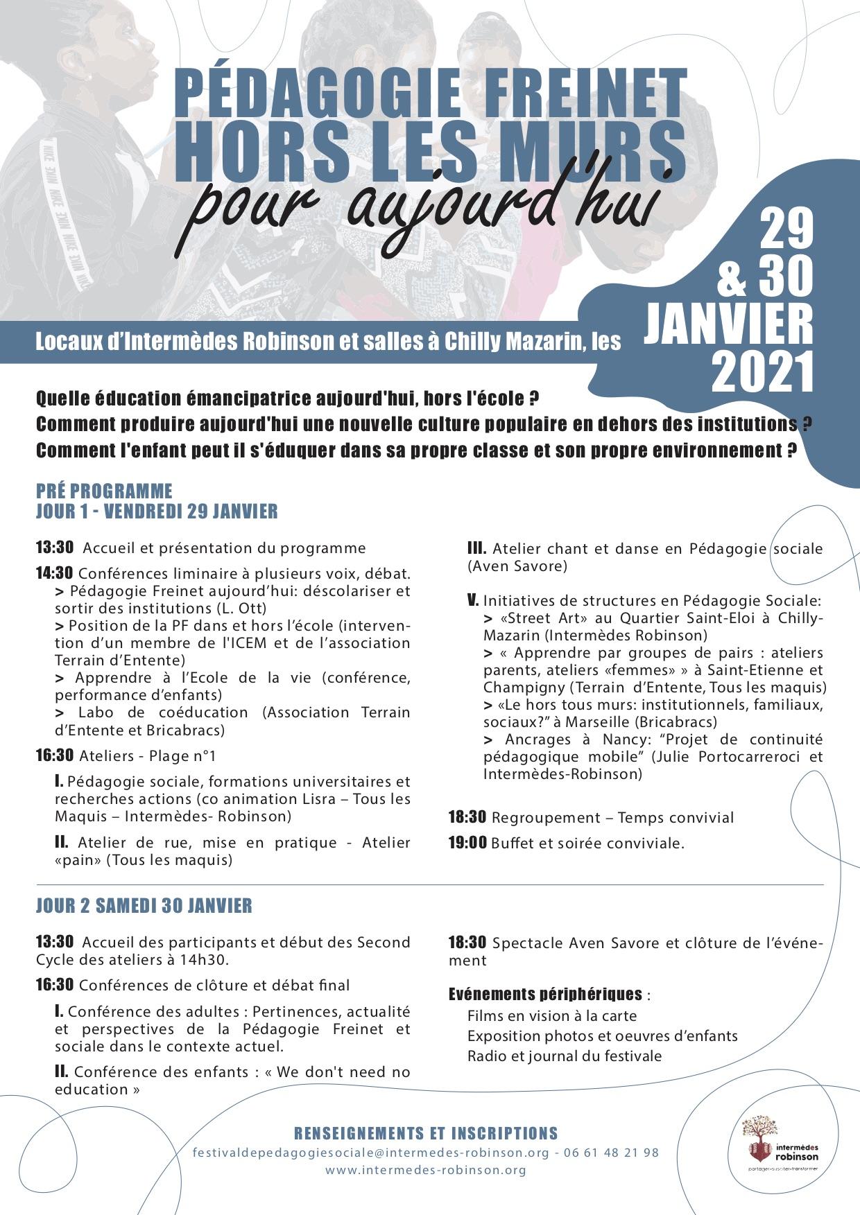 Festival de Pédagogie Sociale d'Intermèdes Robinson91